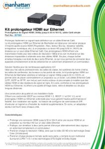 Kit prolongateur HDMI sur Ethernet - Manhattan Products