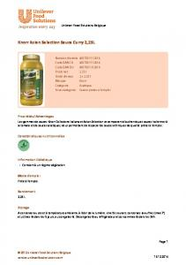 Knorr Asian Selection Sauce Curry 2,25L