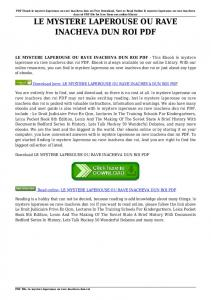 Le roi vert pdf pdfhall fandeluxe Images