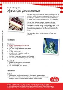 Le vrai New York cheesecake - De Lelie