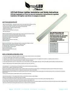 LED Self-Driven Lightbar Installation and Safety ... - Bees Lighting