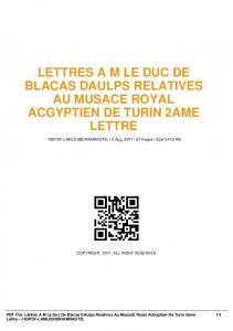 lettres am le duc de blacas daulps relatives au ...  AWS