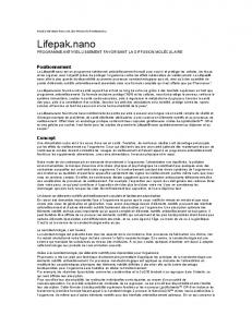 LifePak Nano Product Information Page (Canada) (French)