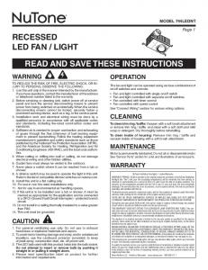 light read and save these instructions
