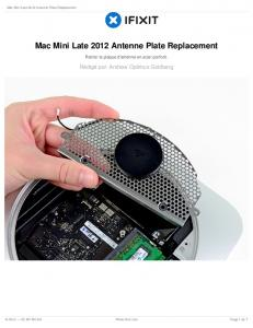 Mac Mini Late 2012 Antenne Plate Replacement