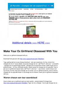 Make Your Ex Girlfriend Obsessed With You