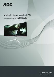 Manuale d'uso Monitor LCD