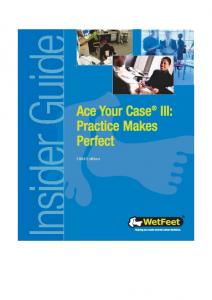 Mckinsey Wetfeet Consulting Interview Ace Your Case Iii 2004 Ed.mdi