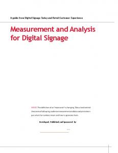 Measurement and Analysis for Digital Signage - Digital Place Solutions
