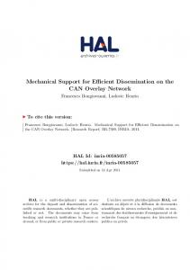 Mechanical Support for Efficient Dissemination on the CAN ... - HAL-Inria