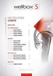 mes routines corps - Wellbox