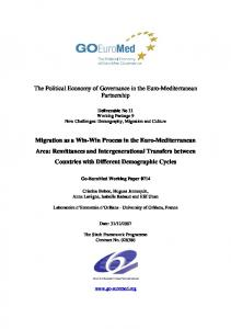 Migration as a Win-Win Process in the Euro ... - Go-EuroMed