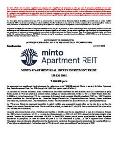MINTO APARTMENT REAL ESTATE INVESTMENT