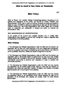 MOU Policy