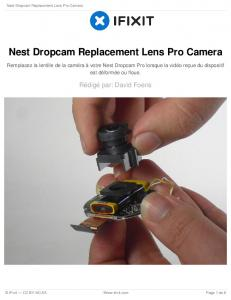 Nest Dropcam Replacement Lens Pro Camera