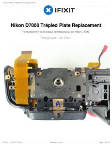 Nikon D7000 Trépied Plate Replacement