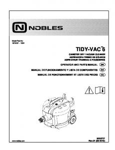 Nobles Tidy-Vac 6 Manual 9009727 - Cleaning Equipment Parts.com