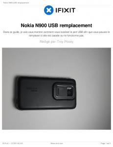 Nokia N900 USB remplacement