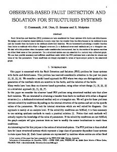 observer-based fault detection and isolation for ... - Semantic Scholar
