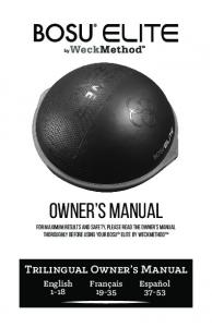 owner's manual - Fitness Factory Outlet