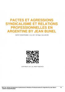 pactes et agressions syndicalisme et relations ...  AWS