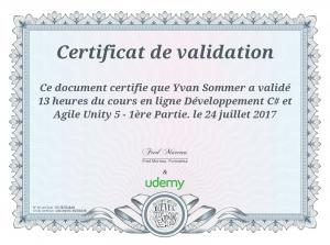 Page 1 Certificat de validation : : Ce document certifie que Yvan ...