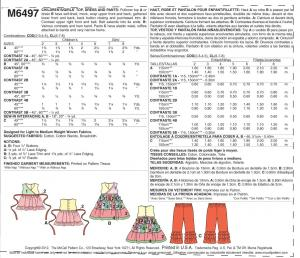 Page 1 M 6497 dress Bhave Self-lined, mock, Wrap upper front and