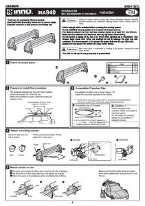 Page 1 Page 2 E For Low Factory crossbar lf the space between the ...