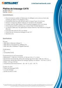 Platine de brassage CAT6 - Intellinet Network Solutions