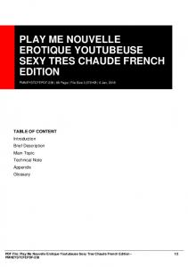 play me nouvelle erotique youtubeuse sexy tres chaude french