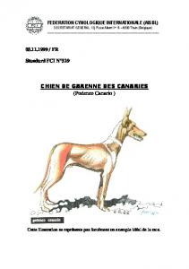 Podenco Canario - Fédération Cynologique Internationale