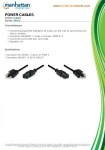 power cables - Manhattan Products