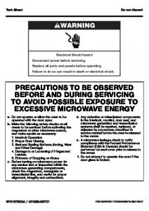 precautions to be observed before and during servicing to avoid ...