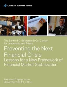 Preventing the Next Financial Crisis - Columbia Business School