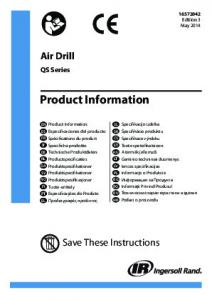 Product Information, Air Drill - Air Tool Pro