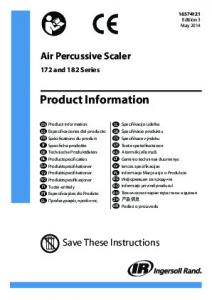 Product Information, Air Percussive Scaler