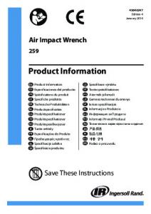 Product Information - Ingersoll Rand
