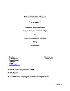 [Product Monograph Template - Standard]