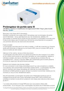 Prolongateur de portée sans fil - Manhattan Products