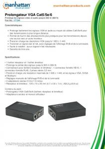 Prolongateur VGA Cat5/5e/6 - Manhattan Products