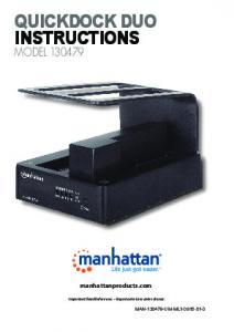 quickdock duo instructions - Manhattan Products