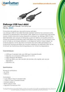 Rallonge USB haut débit - Manhattan Products
