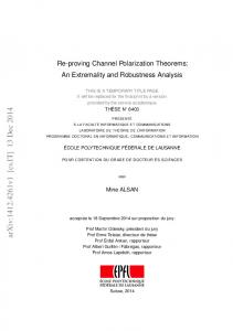 Re-proving Channel Polarization Theorems: An Extremality and ...