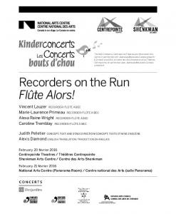 Recorders on the Run Flûte Alors!