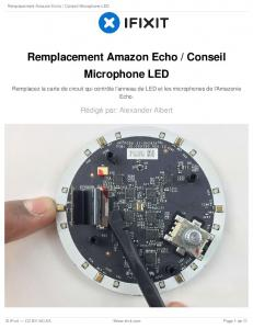 Remplacement Amazon Echo / Conseil Microphone LED