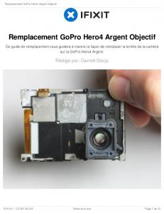 Remplacement GoPro Hero4 Argent Objectif