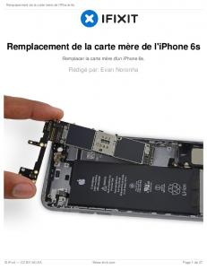 Remplacement iPhone 6s Logic Board