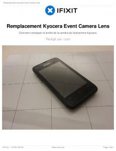 Remplacement Kyocera Event Camera Lens