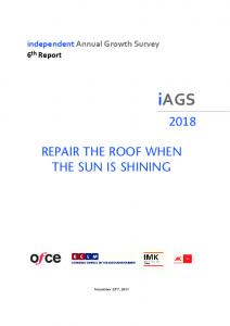 repair the roof when the sun is shining - iAGS