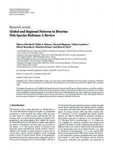 Research Article Global and Regional Patterns in Riverine Fish